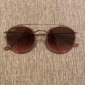 Ray ban double bridge sunglasses gently used